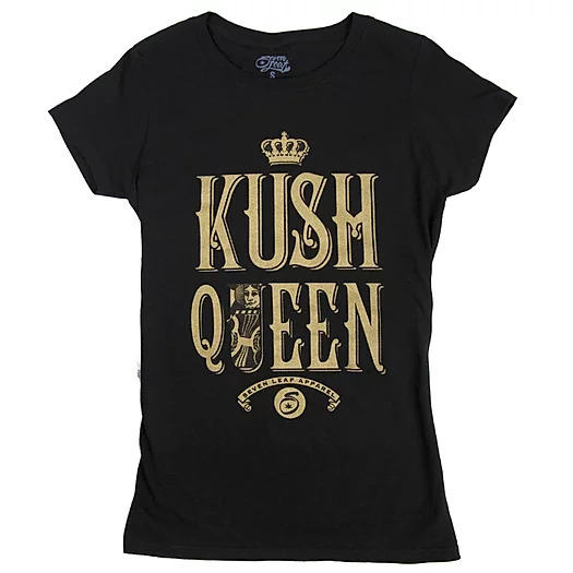 Seven Leaf Kush Queen Black T-Shirt - Women